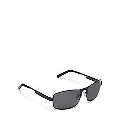 Mantaray - Blue rectangle grey tinted sunglasses
