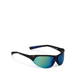 Mantaray - Light blue half frame sports wrap sunglasses