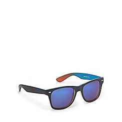 Red Herring - Blue and orange two tone square sunglasses