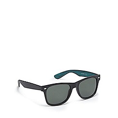 Red Herring - Green wood-effect D-frame sunglasses