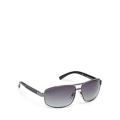 Mantaray - Grey polarised tinted oval frame sunglasses