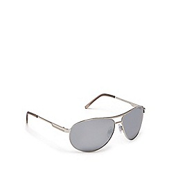 Red Herring - Silver aviator pilot sunglasses