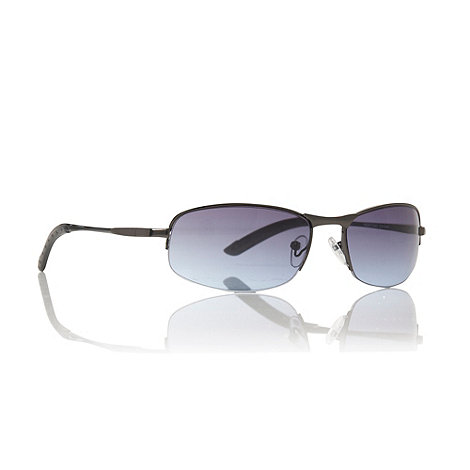 Maine New England - Blue shallow graduating rectangular sunglasses