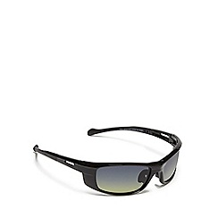 Mantaray - Black polarised wrap around sunglasses