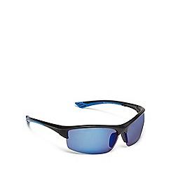 Mantaray - Blue tinted polarised half frame sunglasses