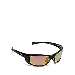 Mantaray - Black multi-coloured tinted lens polarised sports wrap around sunglasses