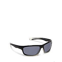 Mantaray - Black wrap around sports sunglasses