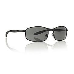 Maine New England - Dark grey small rectangular sunglasses
