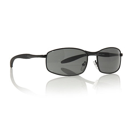 Maine New England - Dark grey small rectangular sunglasses