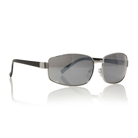 Maine New England - Silver curved rectangular sunglasses
