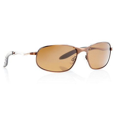 Mantaray - Brown sloping sports sunglasses