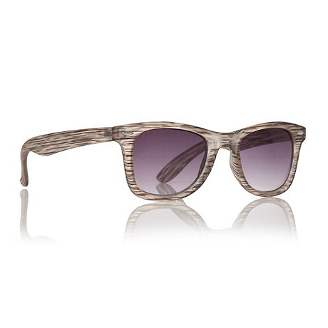 Red Herring - Grey sketched striped D-framed sunglasses