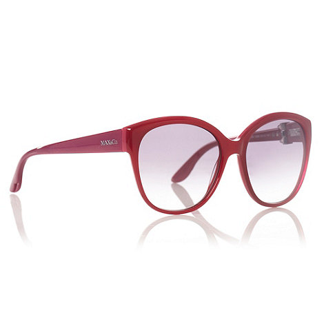 Max & Co - Pink Revolving Bow D-Frame Sunglasses