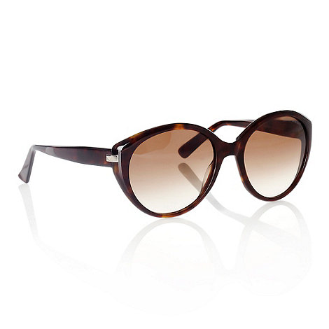 Emporio Armani - Brown Oversized Round Sunglasses