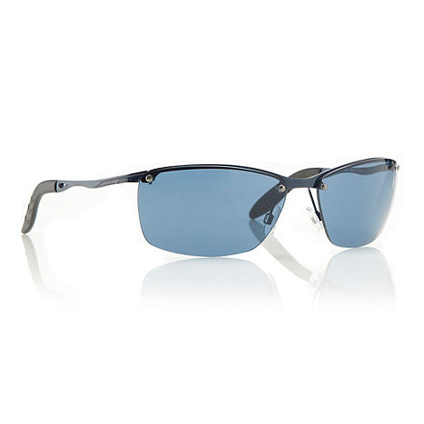 Maine New England - Navy curved rectangular sports sunglasses
