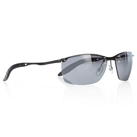 Maine New England - Silver curved rectangular sports sunglasses