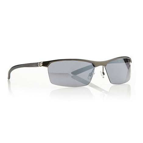 Maine New England - Grey rectangular half frame sunglasses