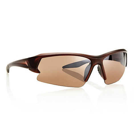 Mantaray - Brown half frame sports sunglasses