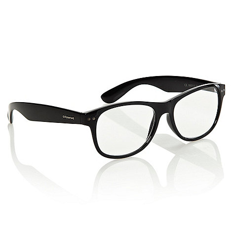 Polaroid - Black plastic D-framed reading glasses