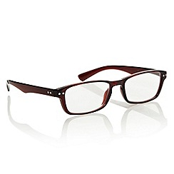 Polaroid - Dark red rectangular reading glasses