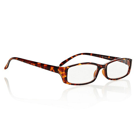 Polaroid - Brown small tortoiseshell armed round reading glasses
