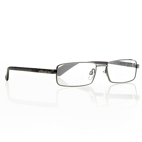 Polaroid - Dark grey half D-frame reading glasses