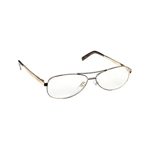 Polaroid - Gold round framed reading glasses