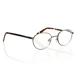 Polaroid - Brown tortoiseshell armed round reading glasses