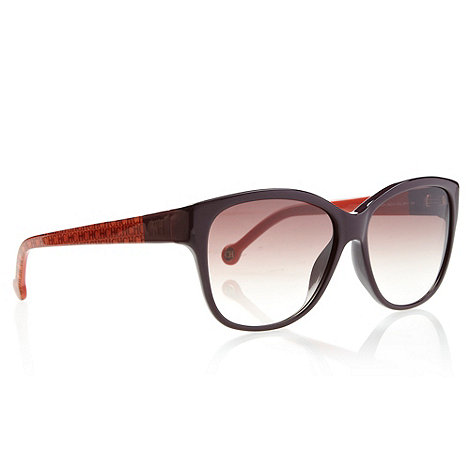 Carolina Herrera - Purple Cat Eye D-Framed Sunglasses