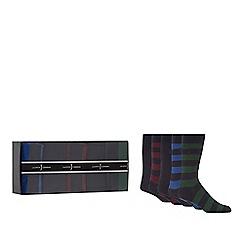 J by Jasper Conran - Set of five multi-coloured socks gift box
