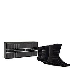J by Jasper Conran - Set of five grey socks gift box