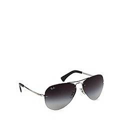 Ray-Ban - RB3449 rimless aviator silver sunglasses
