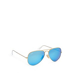 Ray-Ban - RB3025 large metal aviator matt gold sunglasses