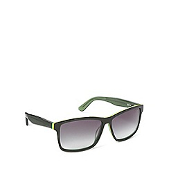 Lacoste - Tri layered d frame black green sunglasses - L705 315