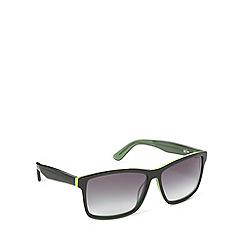 Lacoste - Tri layered d frame black green sunglasses - L705 315