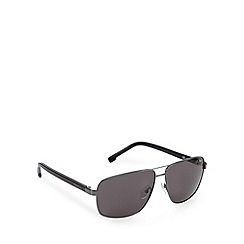 Lacoste - Square aviator gunmetal sunglasses - L162 033