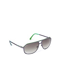 Lacoste - Square aviator tri colour blue sunglasses - L139 424
