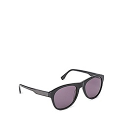 Lacoste - Rounded d frame black sunglasses - L746 001