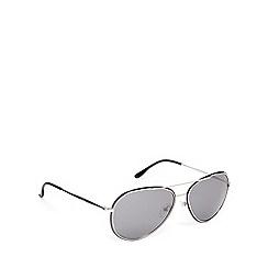 Police - Flat aviator silver black sunglasses - S8299 583X