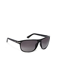 Police - Light grey plastic logo arm square sunglasses