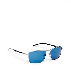 Police - Square full frame silver sunglasses - S8966 581B