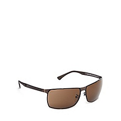 Police - Rimless wrap bronze sunglasses - S8959 0SLS