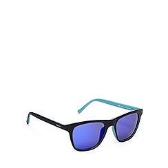 Police - Two tone d frame black blue sunglasses - S1936 7VLB