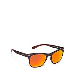 Police - Polarized d frame dark red sunglasses - S1950 NKJR