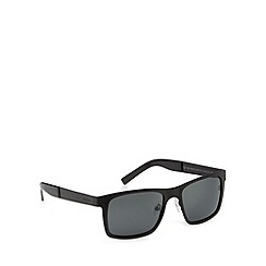 Polaroid - Grey polarised logo arm sunglasses