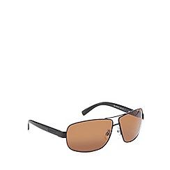 Polaroid - Brown polarised aviator sunglasses