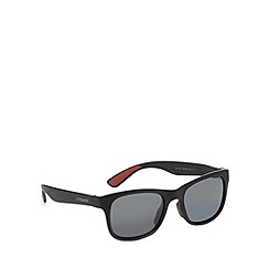 Polaroid - Grey polarised square matte plastic sunglasses