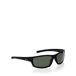 Polaroid - Green polarised rectangle sunglasses
