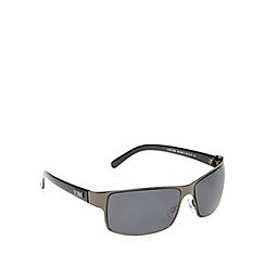 STORM - Chelone sheet metal wrap gunmetal sunglasses - 9ST507-2