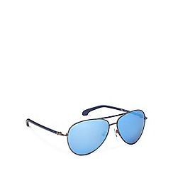 Calvin Klein - Brow bar aviator blue detail sunglasses - CK1184 121